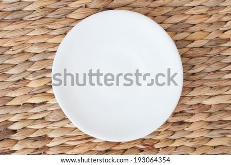 empty plate - stock photo
