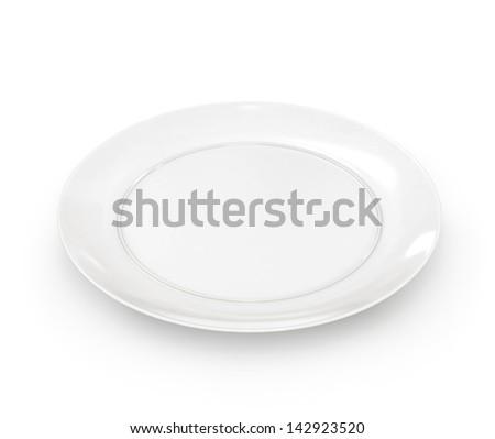 Empty plate isolated. 3d - stock photo
