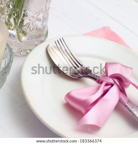 Empty plate on wooden background