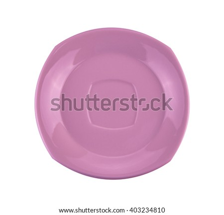 empty plate or dish isolated on white with clipping path included