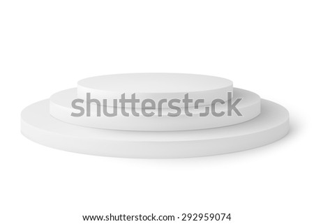 Empty platorm scence studio  isolated on white background