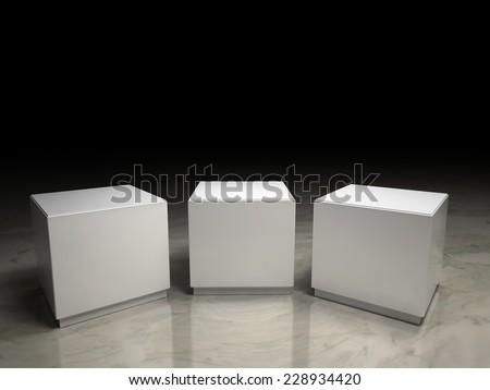 empty podium - stock photo
