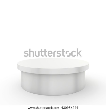 Empty podium and place on white background. 3d rendering