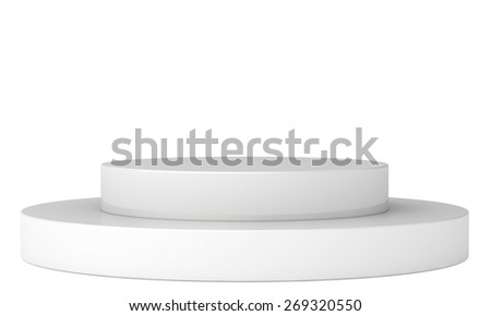 Empty podium. 3d render on a white background.