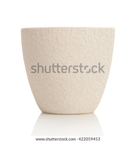 Empty pot isolated on white background