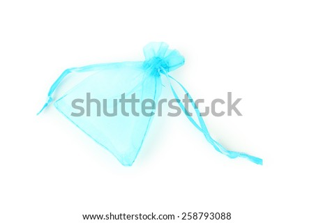 Empty pouch isolated on white