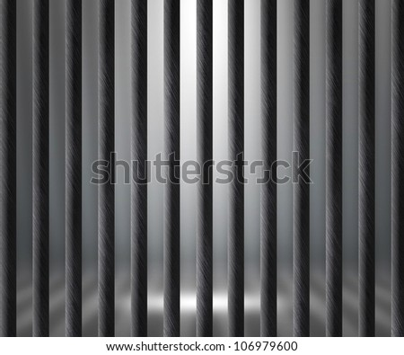 Empty Prison Cell Background - stock photo