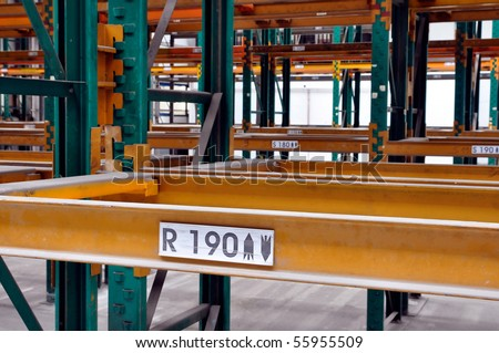 Empty racking system - stock photo