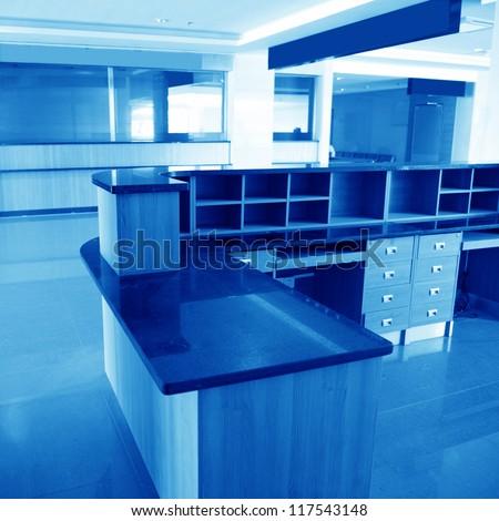 empty reception area in dental clinic. - stock photo