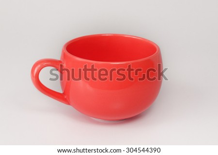 Empty Red Cup isolated on white background
