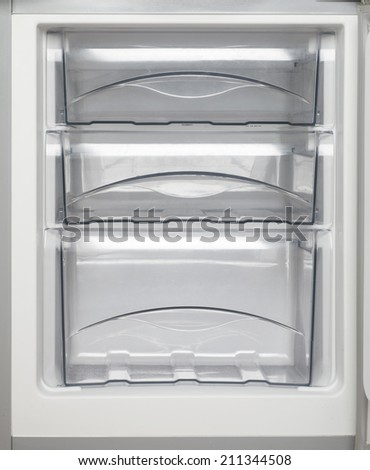 empty refrigerator - stock photo