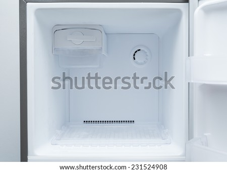 Empty Fridge Freezer Empty Refrigerator Freezer of