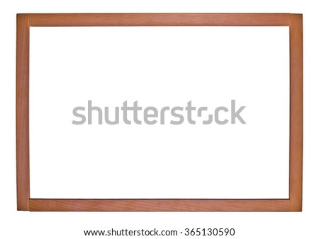 Empty relief rectangular frame for pictures on a white background