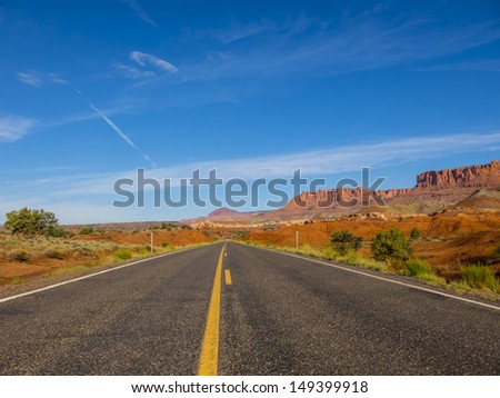 Empty road in Arizona