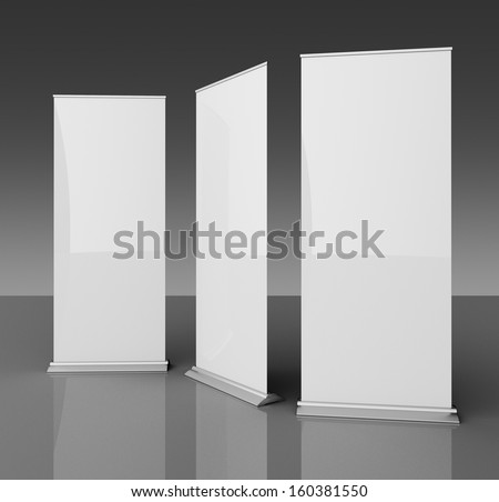 Empty rollup - stock photo