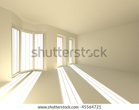 Empty room. 3d - stock photo