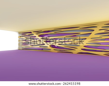 empty room 3D rendering - stock photo