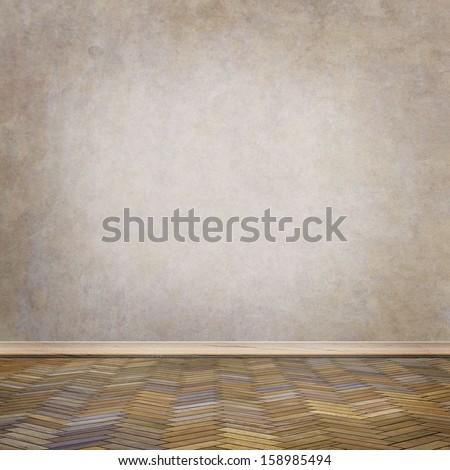 empty room interior - stock photo