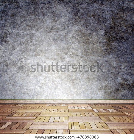 empty room interior 3D illustration