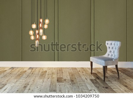 empty room interior decoration wooden floor, stone wall concept. decorative background for home, office and hotel. 3D rendering