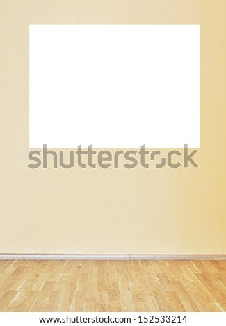 Empty room interior with white free space on wall for your text or image - stock photo