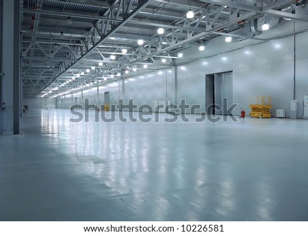 empty room of new storehouse