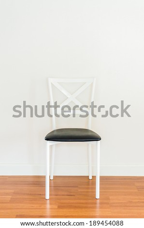 Empty room with chair interior - stock photo