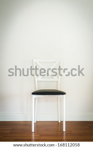 Empty room with chair interior , process in vintage style picture - stock photo