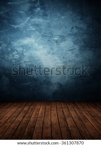 empty room with colored wall (concrete). - stock photo