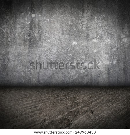 Empty Room With concrete Floor and concrete Wall grunge Interior