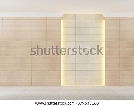 empty room with lighting - stock photo