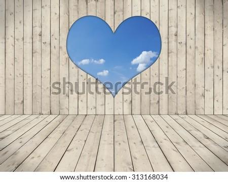 Empty Room Stone Wall Wood Floor Stock Illustration 270972713 Shutterstock