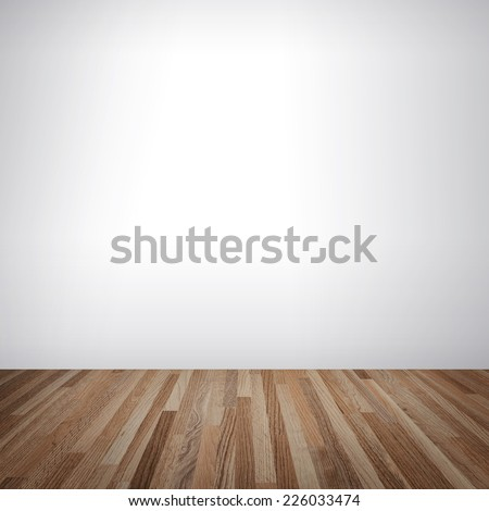 empty room with white wall and wooden floor interior space for creative and design