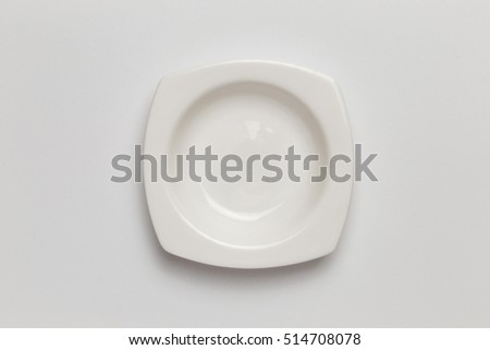 Empty sauce cup isolated on white background cutout, top view, concept of kitchen