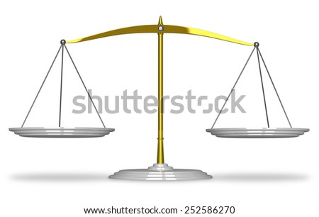Empty scales isolated on white background with soft shadows - stock photo