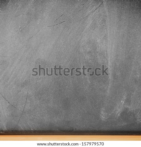 Empty school blackboard