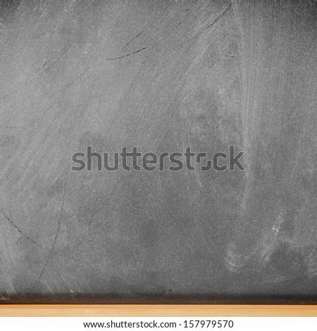 Empty school blackboard  - stock photo