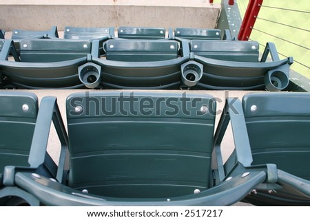 Empty seats at a ball game