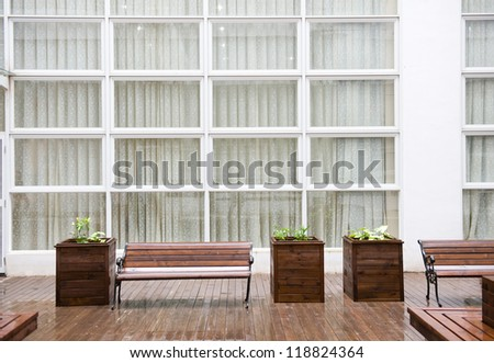 empty seats in modern office building. - stock photo