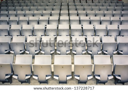 empty seats rows in a sports arena