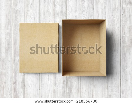 Empty shape box made of cardboard - stock photo