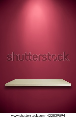 Empty shelves on pink wall for your product design