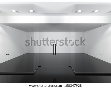 Empty shop - stock photo