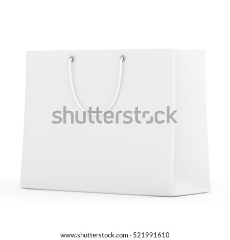 Empty Shopping Bag for advertising and branding. 3d rendering.