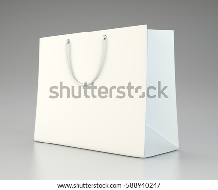 Gift bag stock images royalty free images vectors shutterstock empty shopping bag for advertising and branding mock up 3d rendering negle Choice Image
