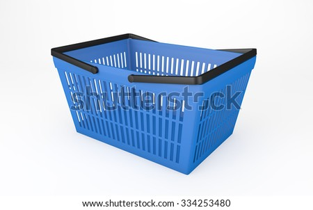 Empty shopping basket isolated on white with clipping path  - stock photo