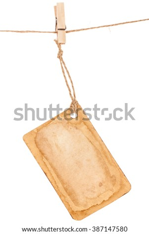 Empty shopping tag template - stock photo