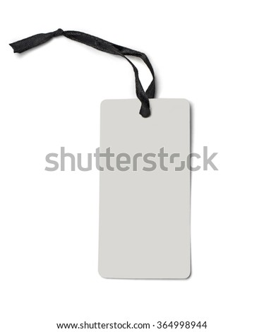 Empty shopping tag template. Isolated on white. with clipping path - stock photo