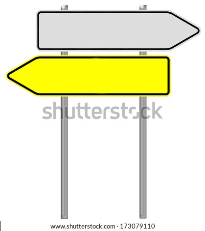 empty sign isolated over a white background / empty sign