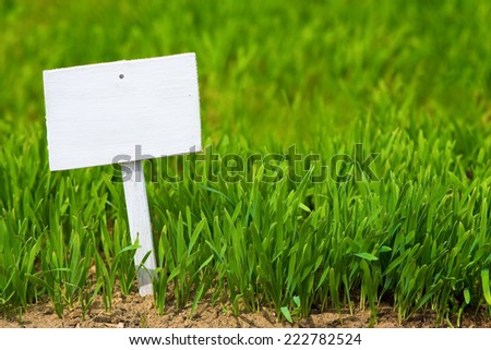 empty sign on green grass